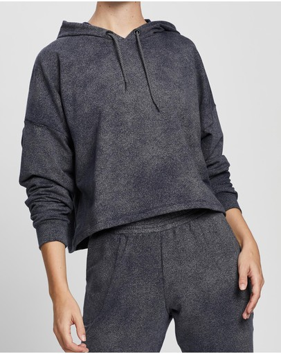Ave Activewoman Cropped Hoodie Denim