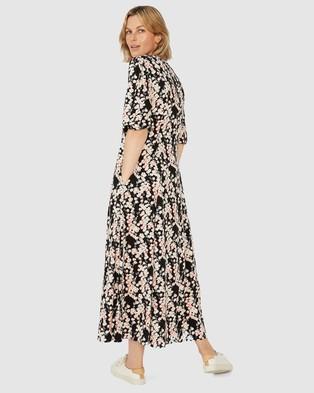 Ceres Life Femme Dress - Dresses (Black & Pink Floral)