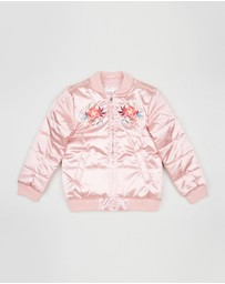 Embroidered Bomber Jacket - Teens