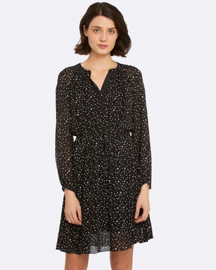 Oxford – Leane Spot Dress – Printed Dresses Black/White