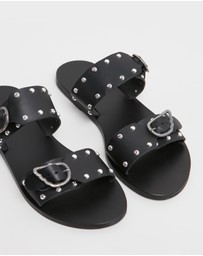 Ancient Greek Sandals - Messinia Rivets Slides