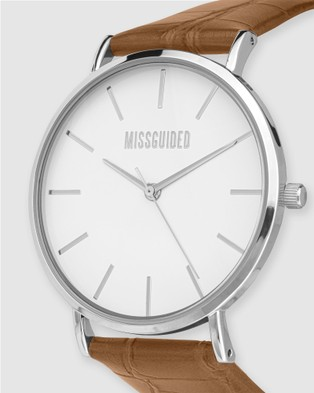 Missguided Missguided Tan Croc - Watches (Tan)