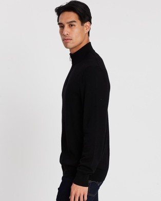 3 Wise Men The Frank Merino Knit - Jumpers & Cardigans (Black)