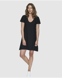Cloth & Co. - Organic Cotton Slub Scoop V Dress