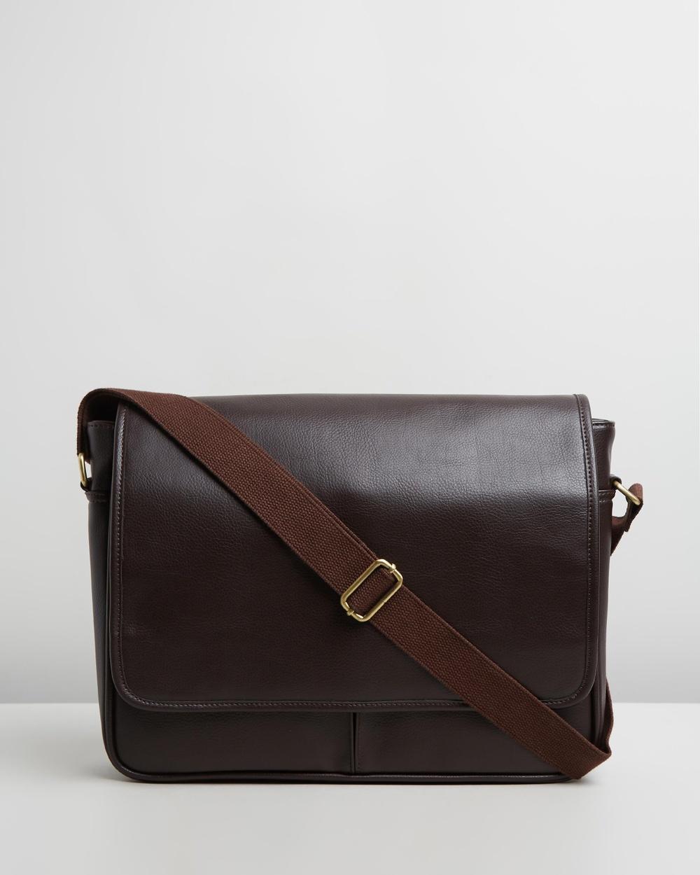 Staple Superior Bennet Messenger Bags Chocolate