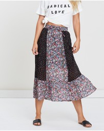 Auguste The Label - Palm Springs Belle Midi Skirt