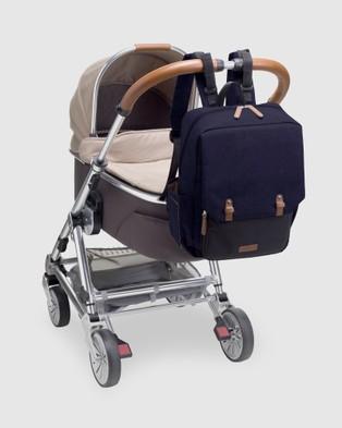 Babymel George Backpack Nappy Bag - Backpacks (Black & Navy)