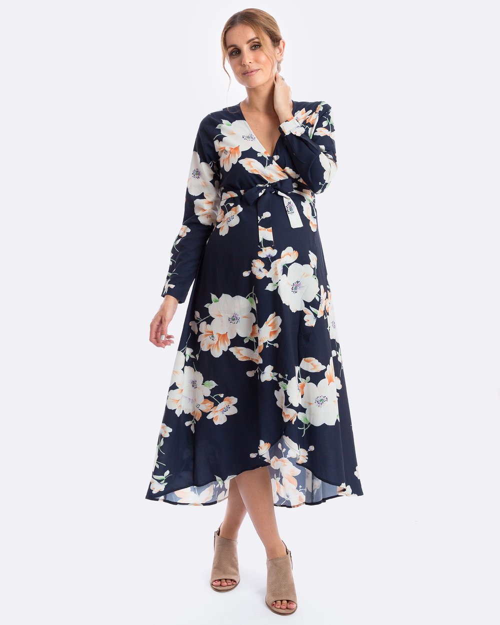 ce01d2853d8a6 Harlow Long-Sleeve Maternity Dress by Maive & Bo Online   THE ICONIC    Australia