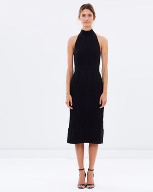 Lover – Violet Fitted Halter Dress – Dresses (Black)