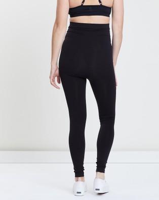 LOVE2WAIT Seamless Maternity Leggings - Full Tights (Black)