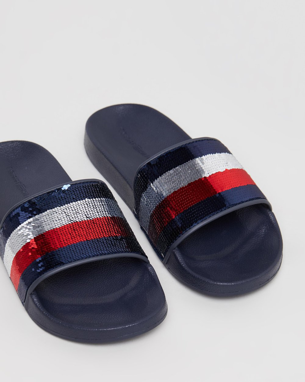 72148e63c89a Tommy Sequins Pool Slides by Tommy Hilfiger Online