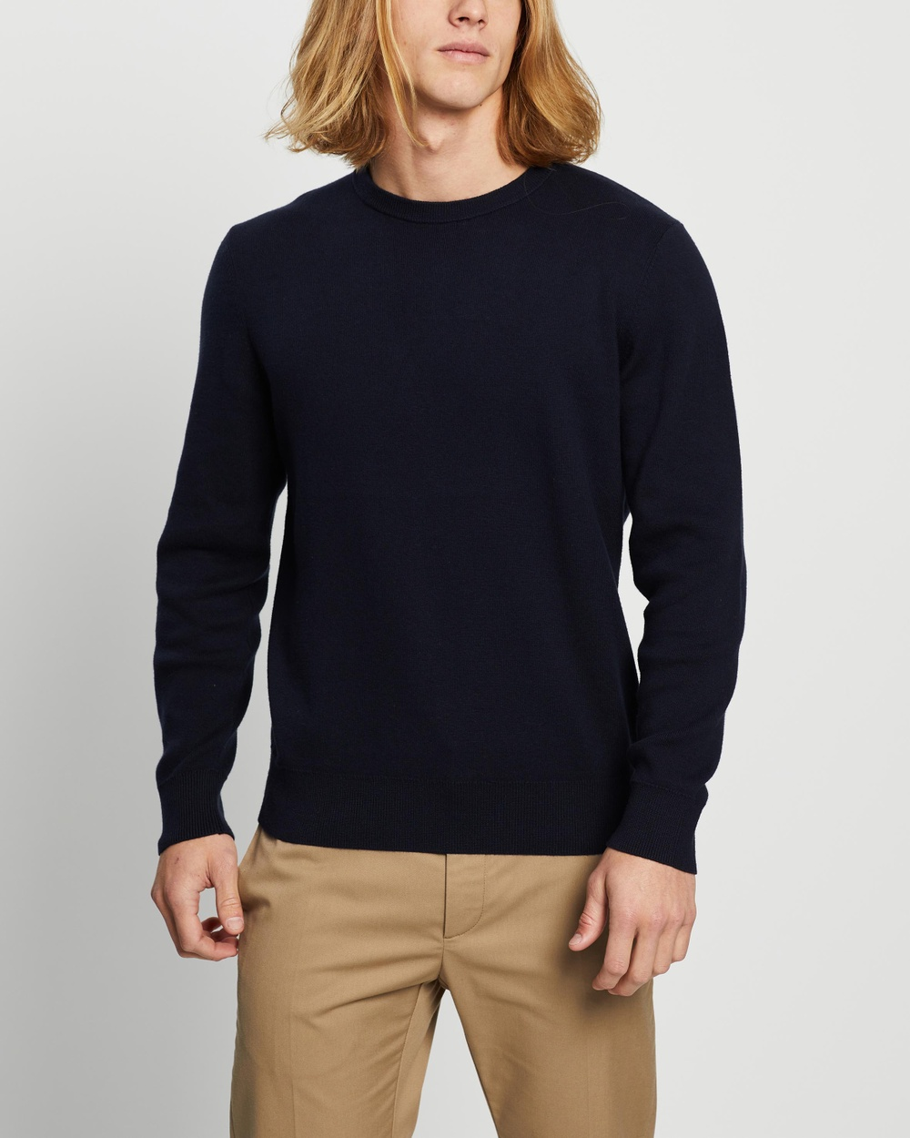 AERE Organic Cotton & Cashmere Knit Jumpers Cardigans Navy