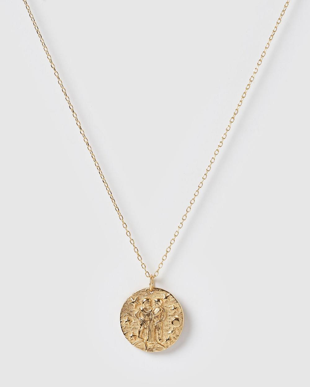 Izoa Star Sign Necklace Gemini Jewellery Gold