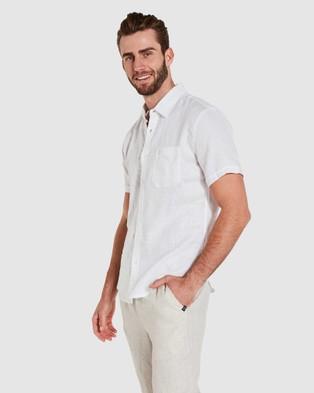 Coast Clothing Short Sleeve Linen Shirt - Casual shirts (White)