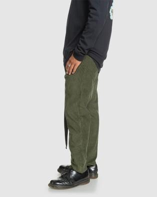 Quiksilver Mens Originals High Water Corduroy Trousers - Pants (DEEP DEPTHS)