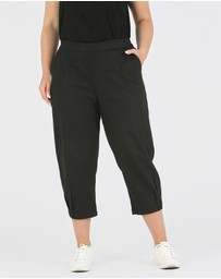 Advocado Plus - Tuck Hem Crop Pants