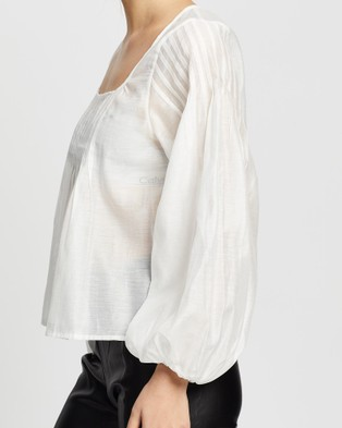 Wish The Label Bridgette Blouse - Tops (Ivory)
