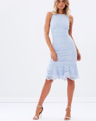 Atmos & Here – Highlight Lace Midi Dress – Dresses (Powder Blue)