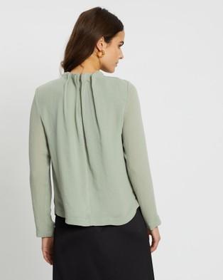 SABA Willa High Neck Long Sleeve Top - Tops (Pistachio)