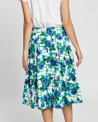 Review Trellis Floral Skirt - Pleated skirts (White Multi)