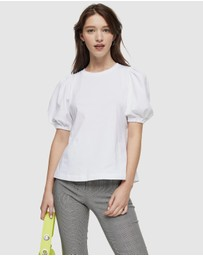 TOPSHOP - Premium Open Back T-Shirt