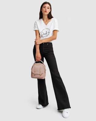 Belle & Bloom Flare Up Fly Front Jeans - Flares (Black)