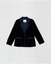 Scotch R'belle - Longer Length Velvet Blazer - Teens