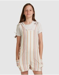 Roxy - Girls 4-14 Better Way Pinafore Playsuit
