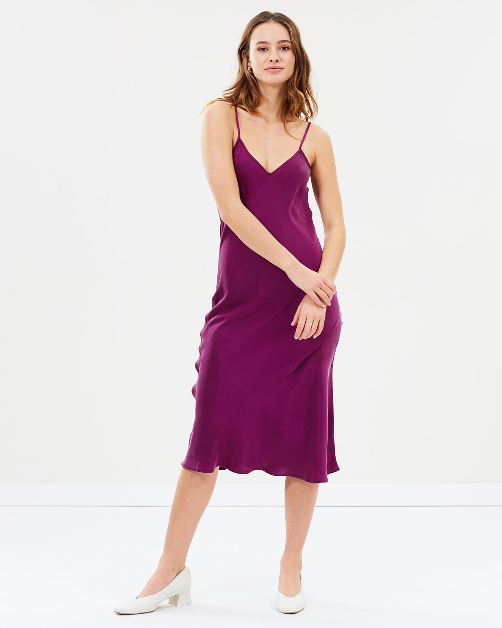 Silk Laundry 90s Silk Slip Dress Dresses Burnt Violet 90s Silk Slip Dress