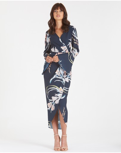 Amelius - Floral Orient Print Dress