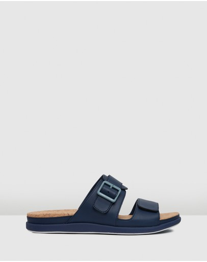Clarks Step June Sun Navy Synthetic
