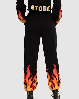 Jagger & Stone Hot As Hell Trackie Pants - Sweatpants (Black)