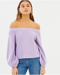 Dazie - Evaley Bell Sleeve Knit Jumper