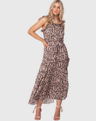 Three of Something Summer Leopard Paradiso Maxi - Printed Dresses (SUMMER LEOPARD)