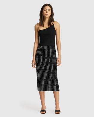FRIEND of AUDREY Alderidge Print Crepe Knit Skirt - Pencil skirts (Print)