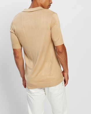 Justin Cassin Buckley Knit Polo - Shirts & Polos (Nude)