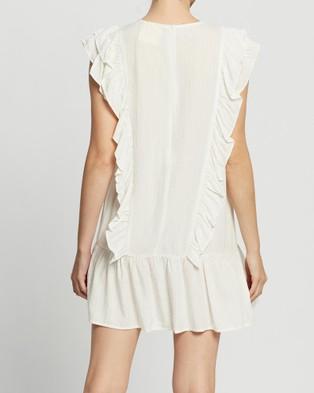 LENNI the label Asta Frill Dress - Dresses (White Lurex)
