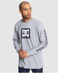 DC Shoes - Mens Square Star Long Sleeve T Shirt