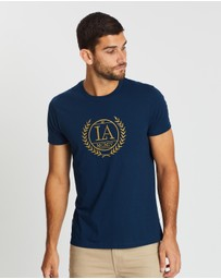 Burton Menswear - Embroidered Chest T-Shirt