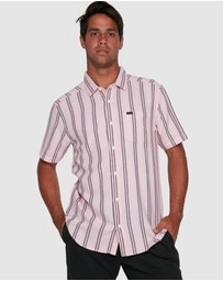 RVCA - Displaced Stripe Short Sleeve Top