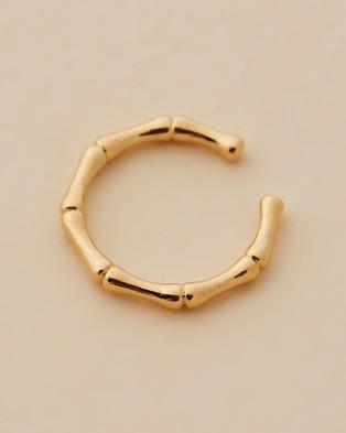 Orelia London Bamboo Ear Cuff - Jewellery (Pale Gold)