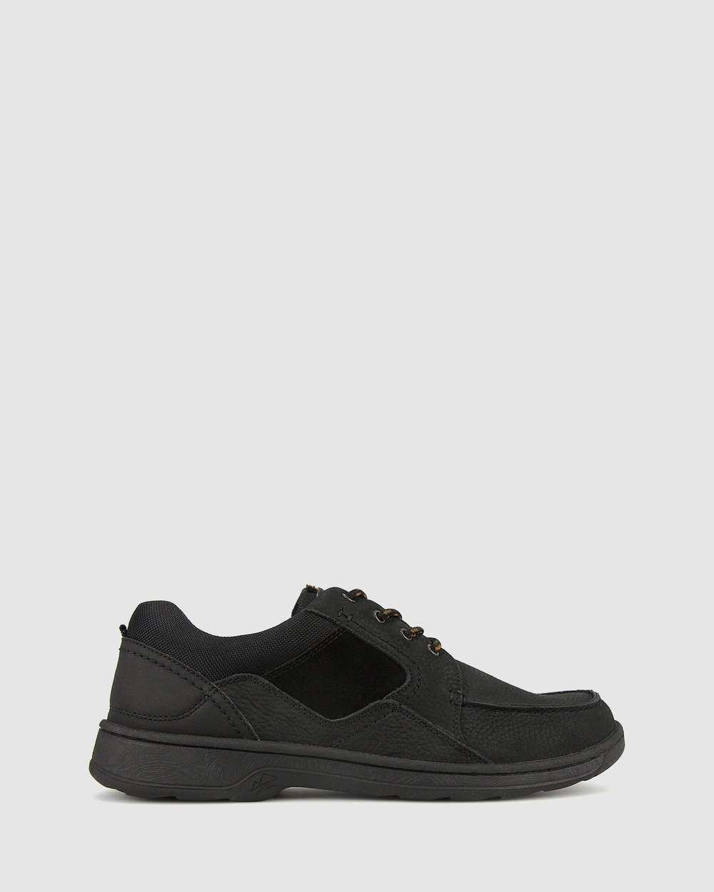Airflex Nelson Premium Leather Sneakers Casual Shoes Black