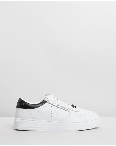Emporio Armani - Perforated Court Sneakers