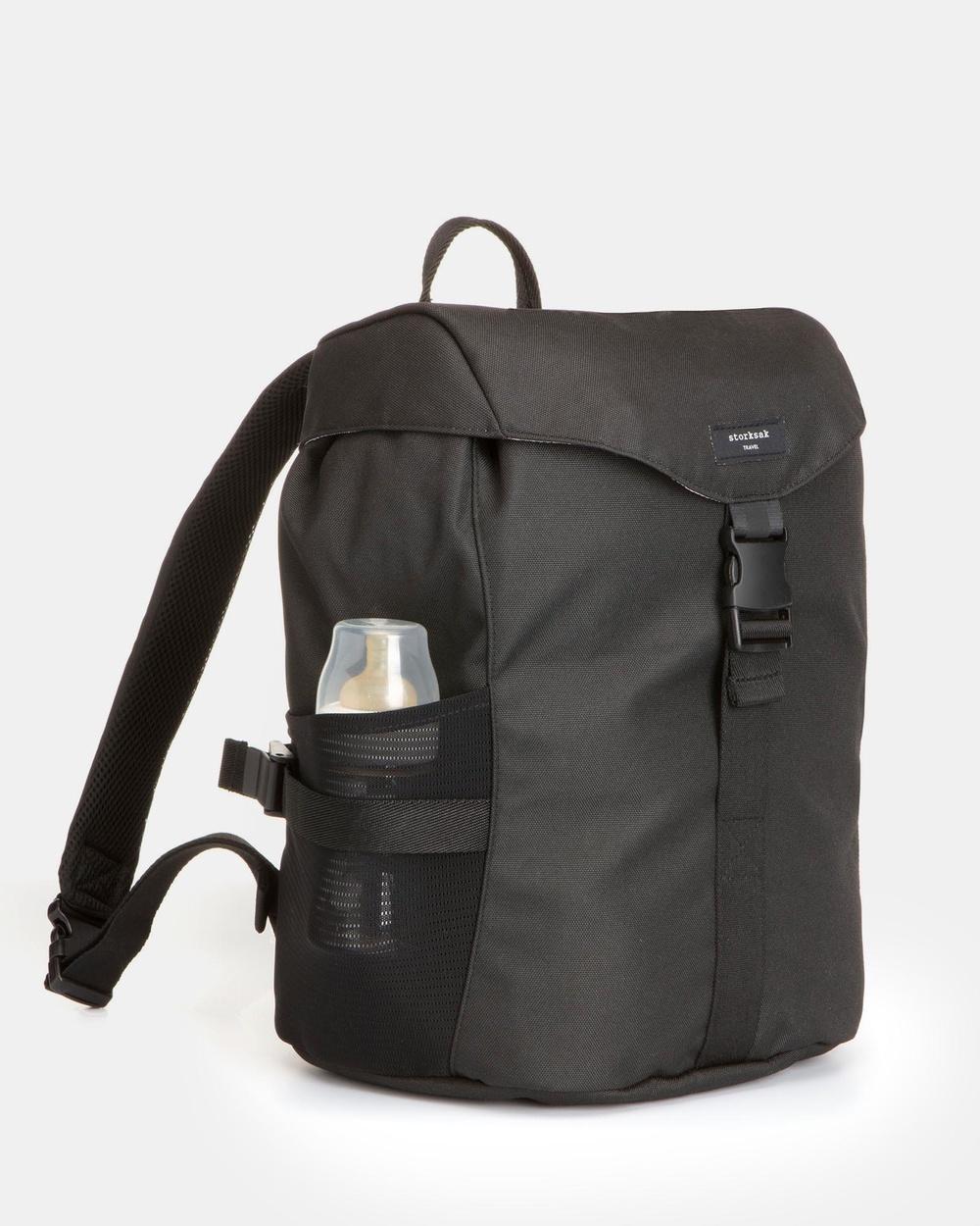 Storksak Eco Travel Backpack Nappy Bag Backpacks Black