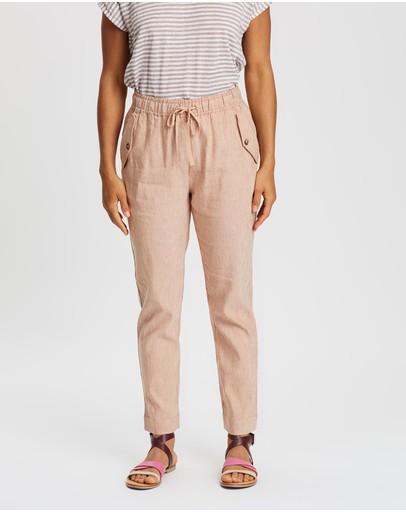 Sportscraft Rosita Linen Pants Tan