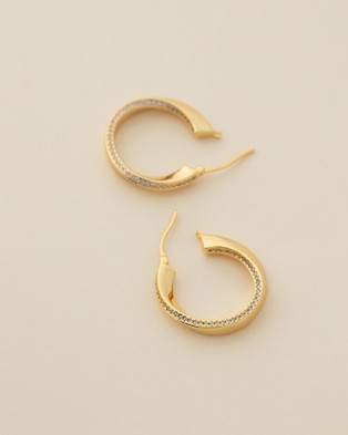 Jackie Mack Lava Hoops - Jewellery (18K Yellow Gold)