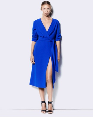 Buy Jewels + Grace - Adelle - Dresses (Blue) -  shop Jewels + Grace dresses online