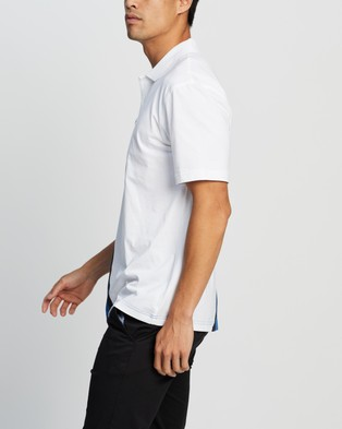 Lacoste 85th Printed Polo - Casual shirts (White, Electric Blue & Black)