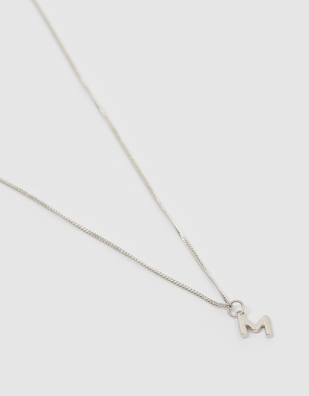 Women Alphabet Letter M Necklace