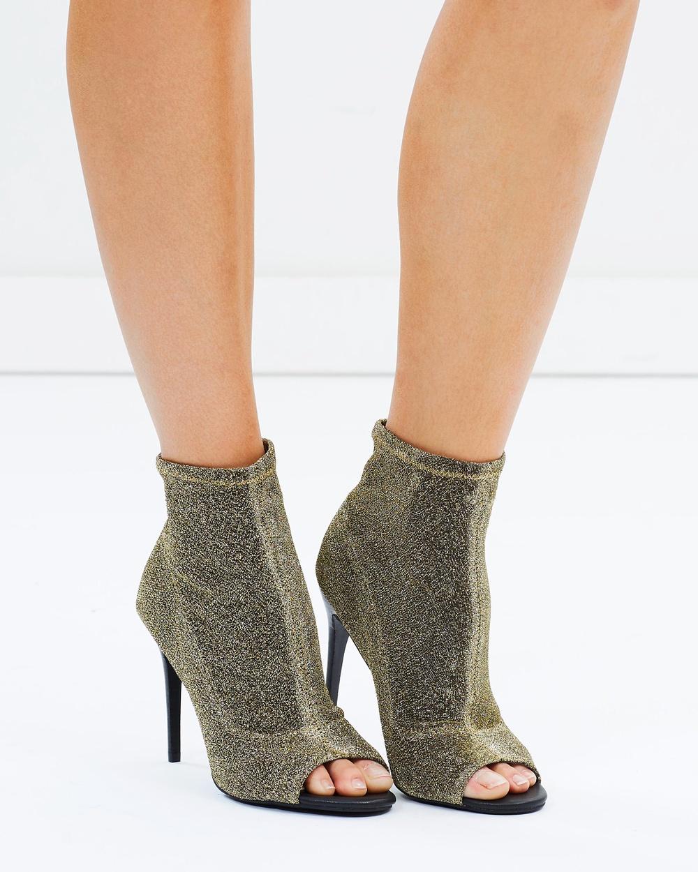 SPURR Rozina Sock Boots Heels Gold Rozina Sock Boots